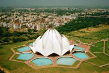Bahá'í tilbeiðsluhúsið í Nýju Delhi, Indlandi