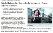 Viðtal við Dr. Hodu Þabet í Morgunblaðinu 3. mars