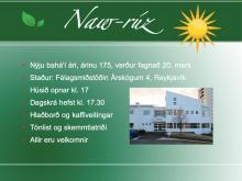 Bahá'íar á suð-vestur horninu halda hátíð til að fagna nýju ári