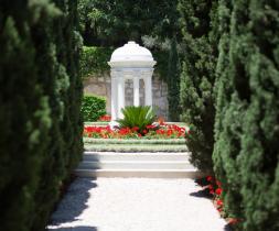 Grafreitur Hins helgasta laufs, dóttur Bahá'u'lláh, á Karmelfjalli í Haifa, Ísrael.