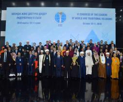 Fulltrúar á 6. þingi trúarleiðtoga heimsins sem forseti Kazakhstan Nursultan Nazarbayev bauð til, var haldið 10. og 11. október í Astana, Kazakhstan.
