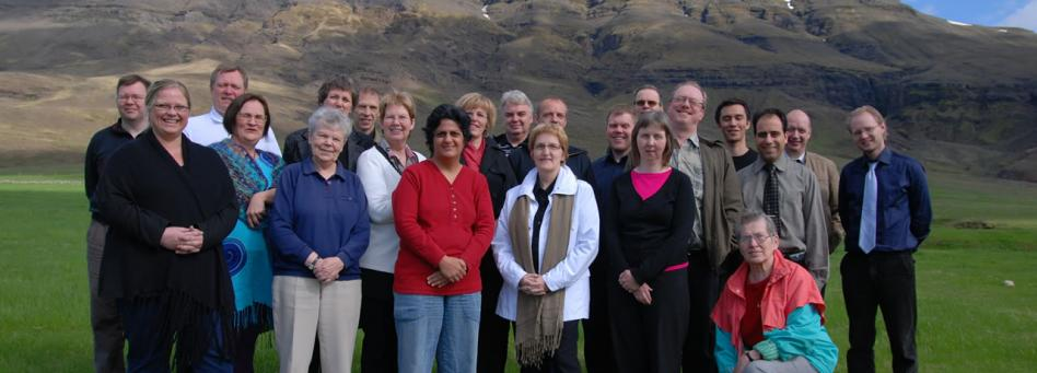Bahá'ís attending their National Convention held at Kistufell in April 2008